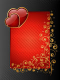 Valentine frame. With a glossy hearts. Vector illustration Royalty Free Stock Image
