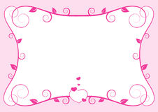 Valentine frame Stock Photography