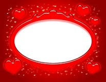 Valentine Frame. Red picture frame with hearts and a white area for inserting an image vector illustration