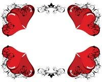 Valentine frame Royalty Free Stock Photo