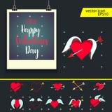 Valentine Frame Image stock