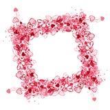Valentine frame design Royalty Free Stock Image