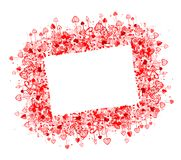 Valentine frame design, place for your photo or Royalty Free Stock Image