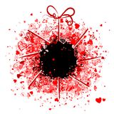 Valentine frame design, place for your photo or Royalty Free Stock Images