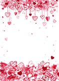 Valentine frame design with space for your text Royalty Free Stock Photography