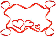 Valentine frame with loops Stock Photography