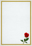 Valentine frame with rose Stock Photography