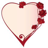 Valentine frame with roses Royalty Free Stock Photo