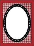Valentine Frame or Tag With Gingham Trim. Red, black and white Valentine border, frame or tag with gingham trim Royalty Free Stock Images