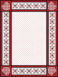 Valentine Frame or Tag With Gingham Trim. Red, black and white Valentine border, frame or tag with gingham trim Stock Photography