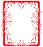 Valentine frame, vector Royalty Free Stock Image
