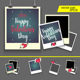 Valentine frame. Vector illustration - valentine`s day icon set Royalty Free Stock Photos