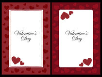 Valentine frames royalty free illustration