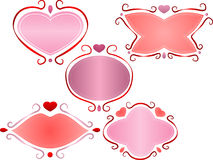Valentine frames. A set of cute Valentines day frames Stock Photo