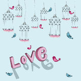 Valentine free bird love background Royalty Free Stock Photography
