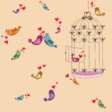 Valentine freedom bird love background Stock Images