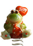 Valentine frog Stock Photos