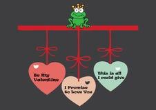 Valentine Frog Arkivfoton