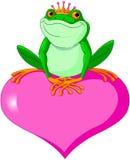 Valentine Frog royaltyfri illustrationer