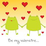 Valentine frogs Royalty Free Stock Images