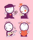Valentine funny peoples. Stock Images