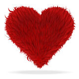 Valentine furry heart Stock Images