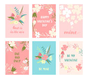 Valentine-geplaatste kaarten Royalty-vrije Stock Afbeeldingen