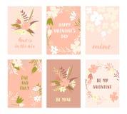 Valentine-geplaatste kaarten Royalty-vrije Stock Fotografie