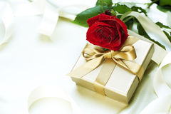 Valentine Gift. Beautiful Valentine gift over white Stock Images