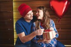 Valentine Gift Arkivbild