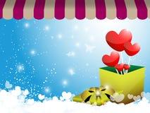 Valentine gift background. EPS 10 Vector Vector Illustration