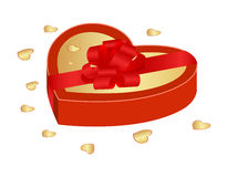 Valentine gift box Royalty Free Stock Images