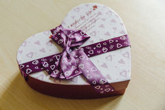 Valentine gift box stock images