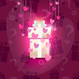 Valentine gift box Royalty Free Stock Image