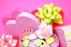 Valentine gift boxes Stock Images
