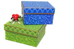 Valentine gift boxes stock photography