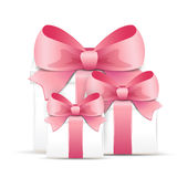 Valentine gift boxes Royalty Free Stock Photos