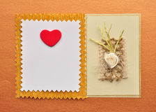 Valentine gift card Stock Images