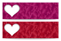 Valentine gift certificate with paper heart and he Royalty Free Stock Image
