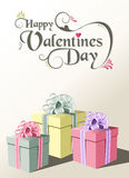 Valentine gift greeting card Royalty Free Stock Photos