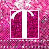 Valentine Gift sobre o mosaico do brilho EPS 8 Imagem de Stock
