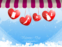 Valentine gift for women background Stock Photos