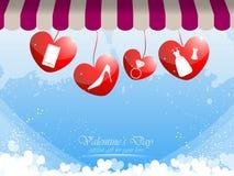 Valentine gift for women background. EPS 10 Vector Royalty Free Illustration