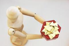 Valentine-giftdoos Royalty-vrije Stock Afbeeldingen