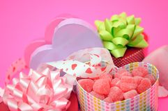 Valentine gifts decoration Stock Images
