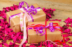 Valentine gifts Royalty Free Stock Image