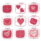 Valentine Gifts Set Stock Photo