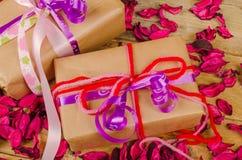 Valentine gifts still life Stock Image