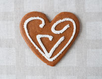 Valentine gingerbread heart Royalty Free Stock Image