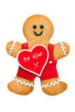 Valentine gingerbread man. Gingerbread man for Valentines Day Stock Photos